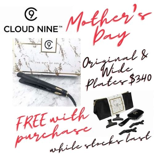 deals with a FREE $60 gift set containing a wide brush and clips for that perfect straighten.